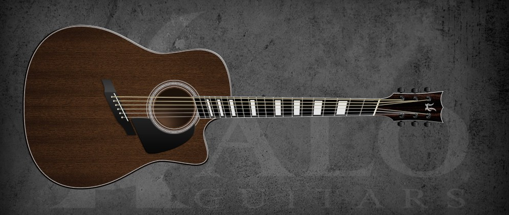 Halo Fanned Fret Acoustic Guitars | 6-String and 7-String Models