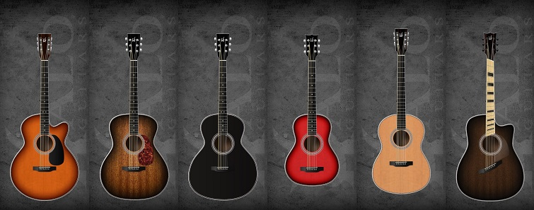10 new customizable acoustic guitars. Black Bedroom Furniture Sets. Home Design Ideas