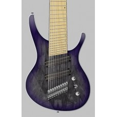 "OCTAVIA - 10-string, 32""-30"" Multi-Scale, Halo Single Saddle, Transparent Gray with Purple Burst"