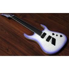 "MERUS - 7-string, 27""-25"" Multi-Scale, HALO Single Saddle, Transparent White Purple Burst"