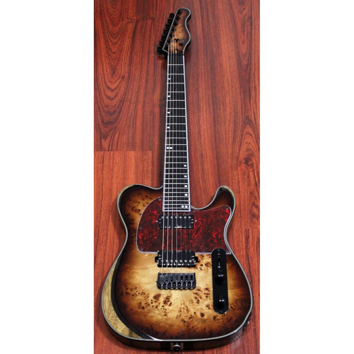 new tele style 7 string guitar w bare knuckle ragnaroks halo guitars. Black Bedroom Furniture Sets. Home Design Ideas