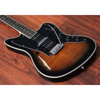 TJ - Semi-Hollow 6 String Guitar, Hipshot Tremolo, Transparent Brown