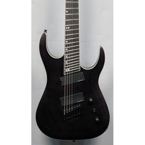 "MERUS - 7-string, 27""-25.5"" Multi-Scale, HALO Single Saddle, Transparent Black"