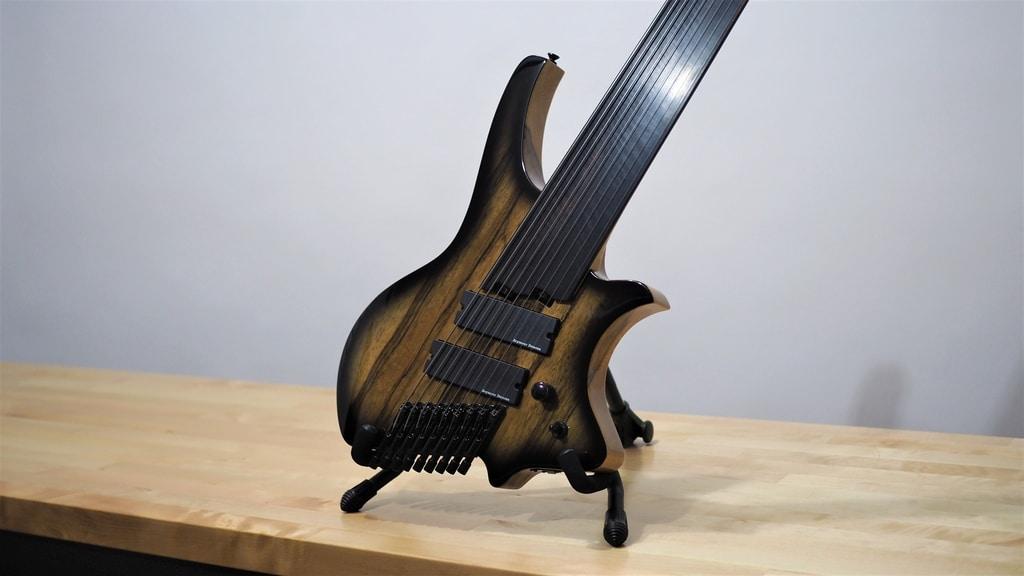 halo headless octavia 9 string fretless guitar. Black Bedroom Furniture Sets. Home Design Ideas