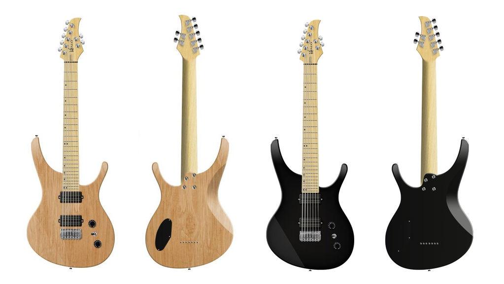 Wide Neck Guitar Halo Octavia